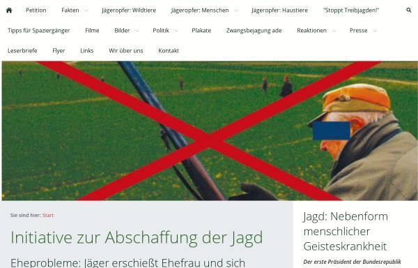 Vorschau von www.abschaffung-der-jagd.de, Initiative zur Abschaffung der Jagd