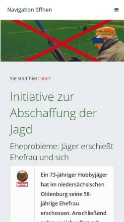 Vorschau der mobilen Webseite www.abschaffung-der-jagd.de, Initiative zur Abschaffung der Jagd