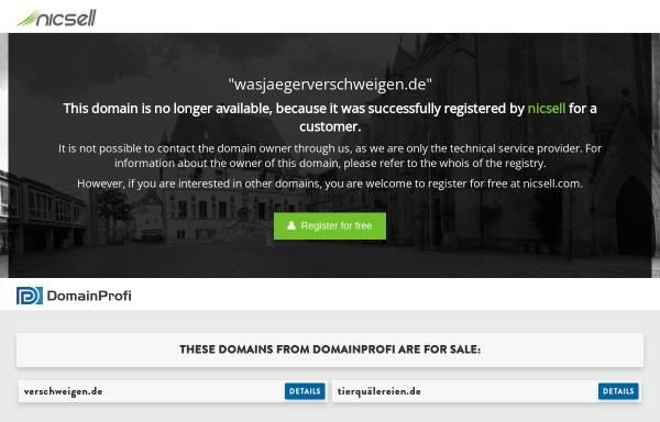Vorschau von www.wasjaegerverschweigen.de, Was Jäger verschweigen