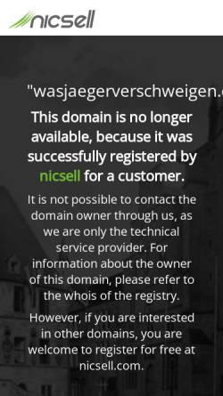 Vorschau der mobilen Webseite www.wasjaegerverschweigen.de, Was Jäger verschweigen