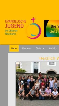 Vorschau der mobilen Webseite www.ejdnm.de, Evangelische Jugend im Dekanatsbezirk Neumarkt
