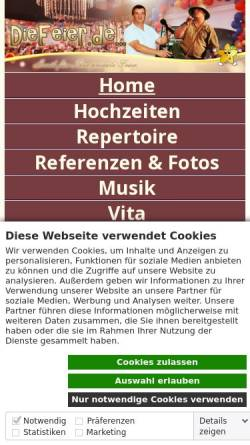 Vorschau der mobilen Webseite www.starlight-entertainment.de, Starlight Entertainment