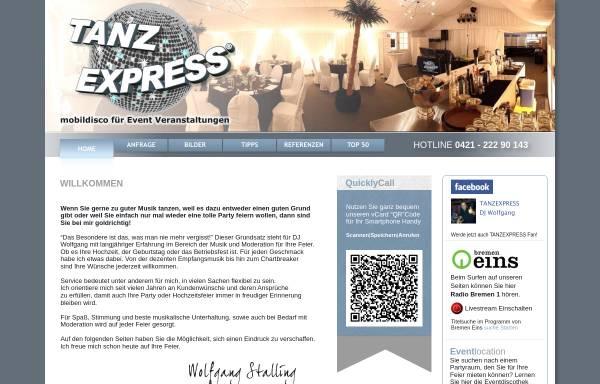 Vorschau von www.tanzexpress.de, Tanzexpress