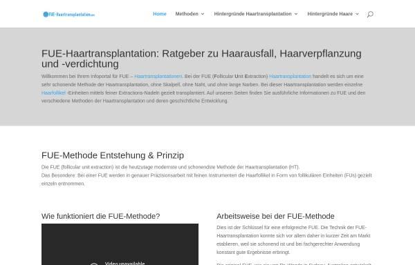Vorschau von www.fue-haartransplantation.com, Haartransplantation nach der FUE-Methode