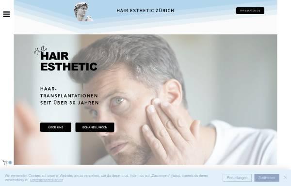 Vorschau von www.hair-esthetic.ch, Hair-Esthetic Haartransplantation