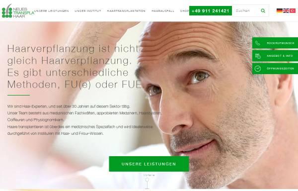 Vorschau von www.nth.de, Neues Transpla Haar GmbH