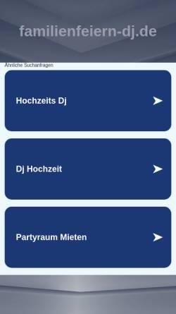 Vorschau der mobilen Webseite www.familienfeiern-dj.de, TomyLi