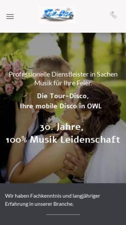 Vorschau der mobilen Webseite www.tour-disco.de, Tour Disco