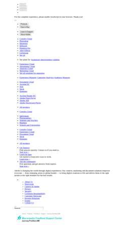 Vorschau der mobilen Webseite www.adobe.com, Adobe FreeHand MX-Tutorial: Illustrationsgrundlagen