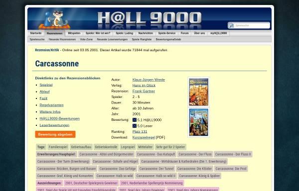 Vorschau von www.hall9000.de, HALL9000