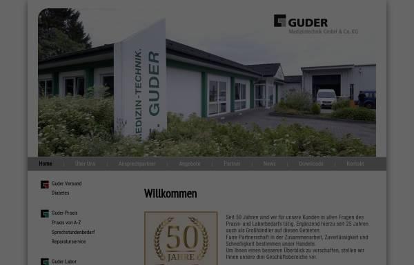 Vorschau von www.guder-medizin.de, Medizintechnik Frank Guder GmbH & Co. KG