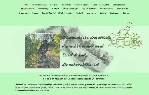 Vorschau von www.vfguh-schaephuysen.de, VfGuH Schaephuysen e.V.