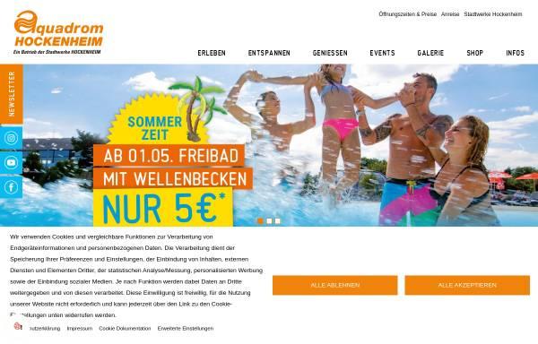 Vorschau von www.aquadrom-hockenheim.de, Aquadrom Hockenheim