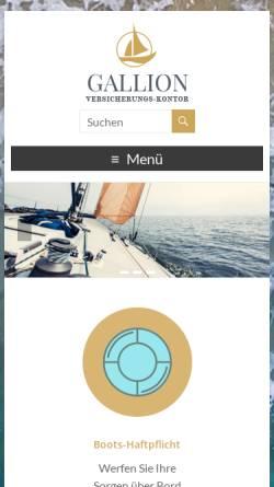 Vorschau der mobilen Webseite www.vk-gallion.de, Richard O. Gallion GmbH