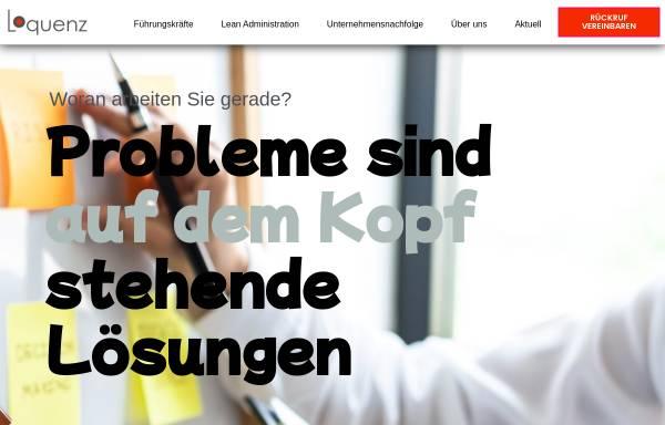 Vorschau von www.loquenz.de, Loquenz Unternehmensberatung GmbH