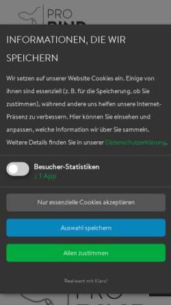Vorschau der mobilen Webseite www.braunvieh.de, Arbeitsgemeinschaft Braunvieh