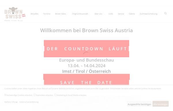 Vorschau von www.braunviehaustria.at, Braunvieh Austria