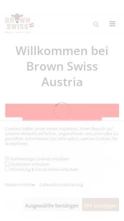 Vorschau der mobilen Webseite www.braunviehaustria.at, Braunvieh Austria