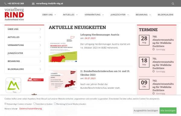 Vorschau von www.braunvieh-vorarlberg.at, Braunvieh Vorarlberg