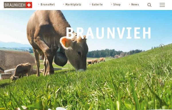 Vorschau von homepage.braunvieh.ch, Schweizer Braunviehzuchtverband (SBZV)