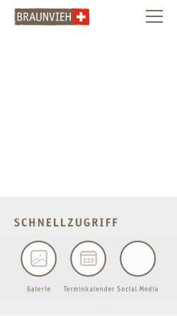 Vorschau der mobilen Webseite www.braunvieh.ch, Schweizer Braunviehzuchtverband (SBZV)