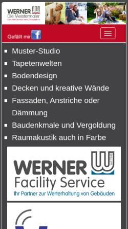 Vorschau der mobilen Webseite www.werner-online.com, Firmengruppe Werner