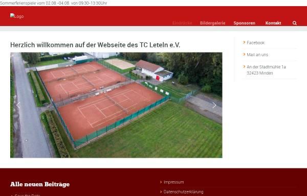 Vorschau von www.tcleteln.de, Tennisclub Leteln e.V.