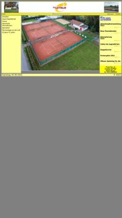 Vorschau der mobilen Webseite www.tcleteln.de, Tennisclub Leteln e.V.