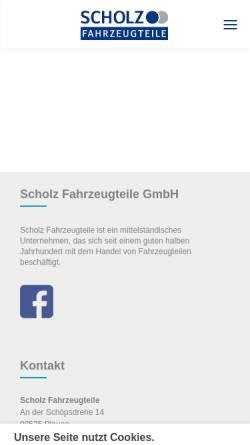 Vorschau der mobilen Webseite www.schofa.de, Scholz Fahrzeugteile