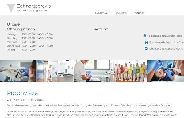 Vorschau von www.zahnprofi-le.de, Zahnarztpraxis Dr. med. dent. Jörg Klemen