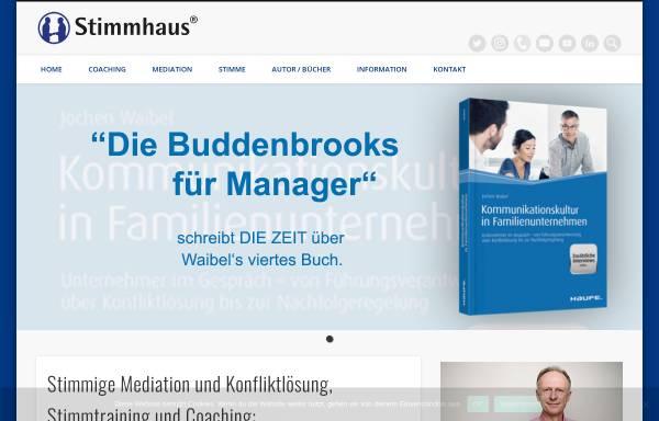 Vorschau von www.stimmhaus.de, Stimmhaus - Dipl.-Psych. Jochen Waibel