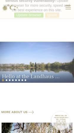 Vorschau der mobilen Webseite www.landhausamsee.de, Landhaus am See
