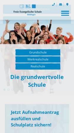 Vorschau der mobilen Webseite www.fesbb.de, Freie Evangelische Schule Böblingen