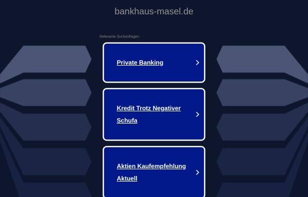 Vorschau von www.bankhaus-masel.de, Bankhaus Dr. Masel AG