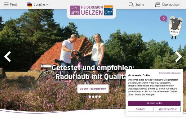 Vorschau von www.heideregion-uelzen.de, Erlebnisregion Uelzen - Tourismuskreis Uelzen e.V.