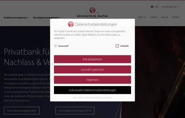 Vorschau von www.hoernerbank.de, Hoerner Bank AG