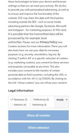 Vorschau der mobilen Webseite www.ece.com, ECE Projektmanagement GmbH & Co. KG