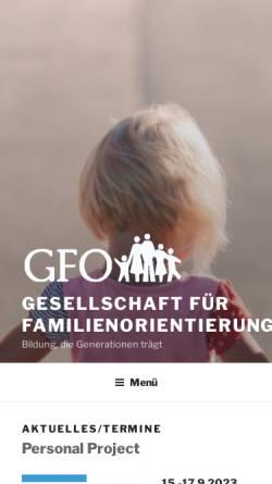 Vorschau der mobilen Webseite www.familienorientierung.at, Gesellschaft für Familienorientierung