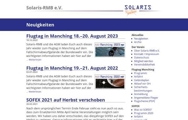 Vorschau von solaris.raketenmodellbau.org, Solaris RMB