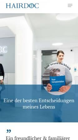 Vorschau der mobilen Webseite www.hairdoc.de, Neidel, Dr. Frank G.
