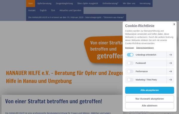 Vorschau von www.hanauer-hilfe.de, Hanauer Hilfe e.V.