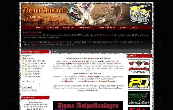 Vorschau von www.doma-auspuff.de, Doma-Auspuff Shop, Inh. Simon Jahn