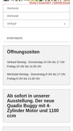 Vorschau der mobilen Webseite www.erich-jahn.de, Erich und Jahn Motorsport GbR