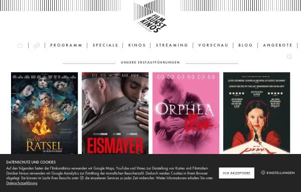 Vorschau von filmkunstkinos.de, Filmkunstkinos
