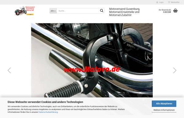 Vorschau von motovo.de, Motoversand Gusenburg