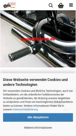 Vorschau der mobilen Webseite motovo.de, Motoversand Gusenburg