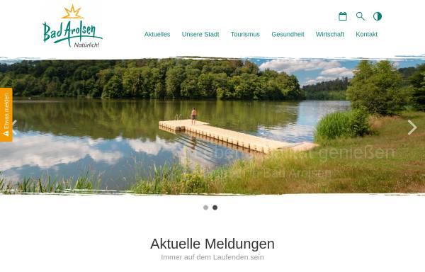 Vorschau von www.bad-arolsen.de, Bad Arolsen