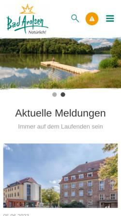 Vorschau der mobilen Webseite www.bad-arolsen.de, Bad Arolsen