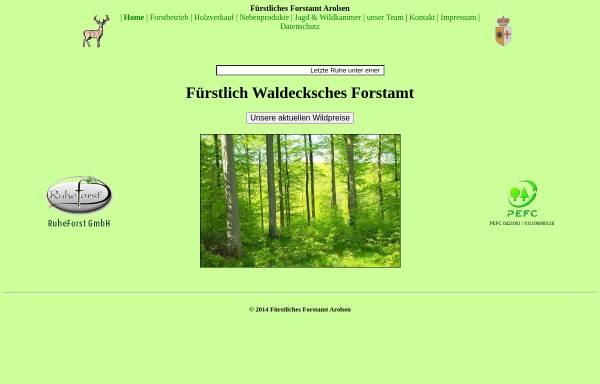 Vorschau von fuerstliches-forstamt-arolsen.de, Fürstliches Forstamt Arolsen