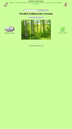 Vorschau der mobilen Webseite fuerstliches-forstamt-arolsen.de, Fürstliches Forstamt Arolsen